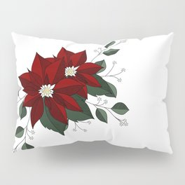 Nochebuena Poinsettia Pillow Sham