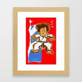 Taekwondoin Framed Art Print