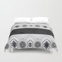 Modern Black and White Marble Geo Pattern Duvet Cover
