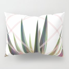 Tropical Desire - Foliage and geometry Pillow Sham