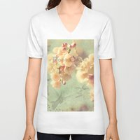 postcard V-neck T-shirts featuring Postcard by AlejandraClick