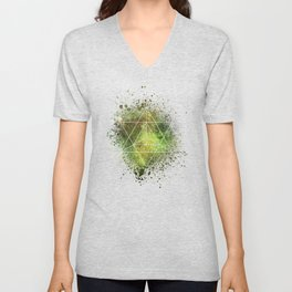 Star Tetrahedron the Merkaba Vehicle of Light Unisex V-Neck