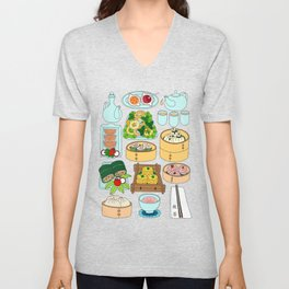 Dim Sum Lunch Unisex V-Neck