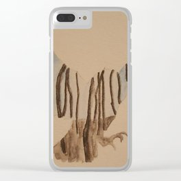 Fly at night Clear iPhone Case