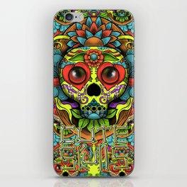 Cute Skull Dia de Los Muertos iPhone Skin
