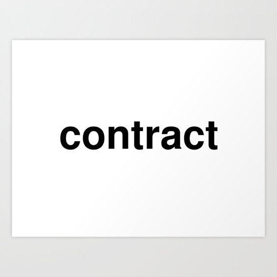 contract Art Print