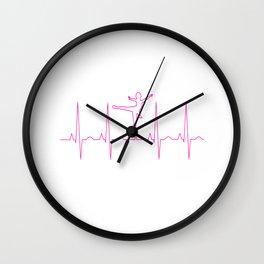 Heartbeat Ballerina Ballet Dancer Wall Clock