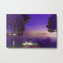 Lake Simcoe start nights Metal Print