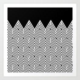 Bounty Hunter Black and White Art Print