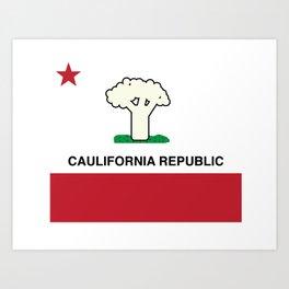 Caulifornia Republic Art Print