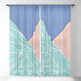 B Rays Geo 4 Sheer Curtain