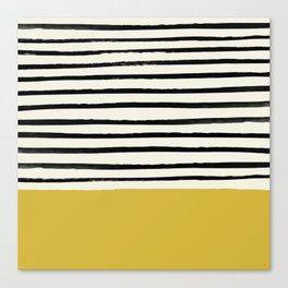 Mustard Yellow & Stripes Canvas Print