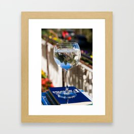 And After A Sip, My World Is Upside Down Framed Art Print