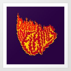Down in Flames Art Print