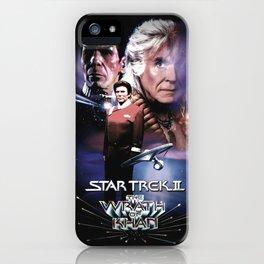 Star Trek Wrath of Khan Vintage Style Movie Poster iPhone Case