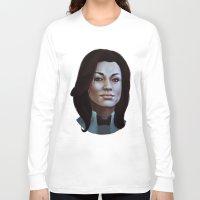 nan lawson Long Sleeve T-shirts featuring Mass Effect: Miranda Lawson by Ruthie Hammerschlag