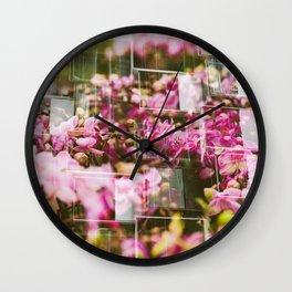 Orchids & Windows | Hong Kong Double Exposure Wall Clock