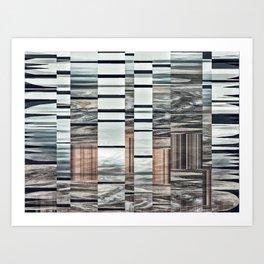 Coded Terrain Art Print