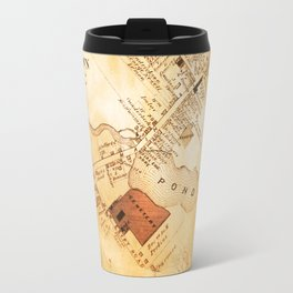 Allentown, New Jersey Map and Mill by Ericka O'Rourke Travel Mug