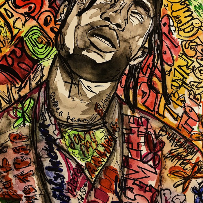 La flame,music,hiphop,poster,astro world,tour,wall art,artwork,painting,colourful Comforters