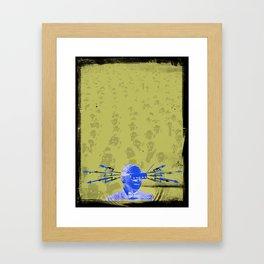 SHOCK VISOR Framed Art Print