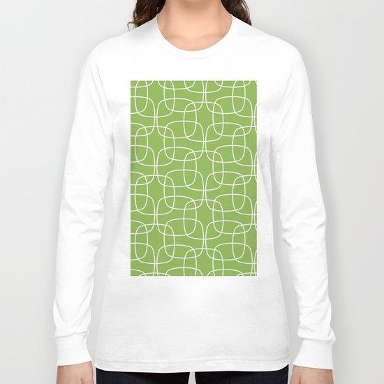 Square Pattern Greenery Long Sleeve T-shirt