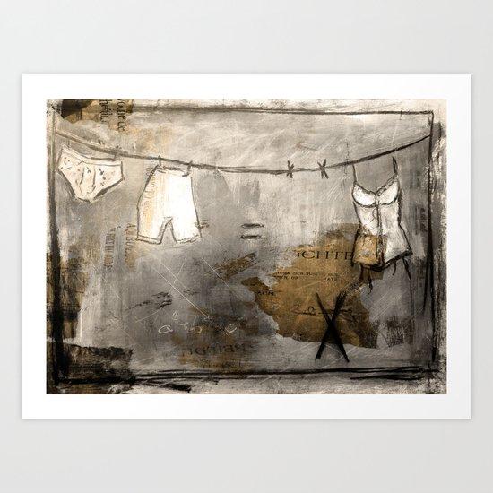 laundry stories Art Print