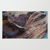 pony Area & Throw Rugs featuring Highland Pony by Michael Creese