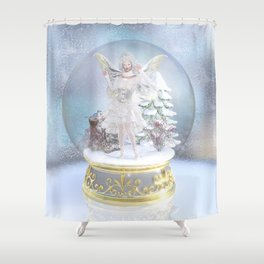 Captured in Frost Shower Curtain