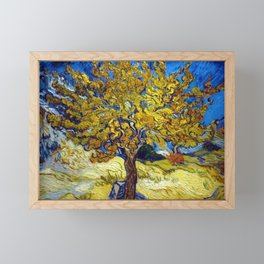 The Mulberry Tree in Autumn by Vincent van Gogh Framed Mini Art Print