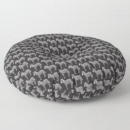 black and white zebras Floor Pillow