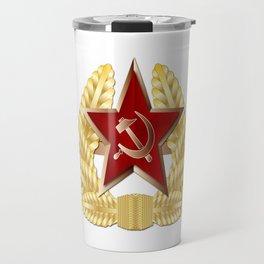 Soviet Cap Badge Travel Mug
