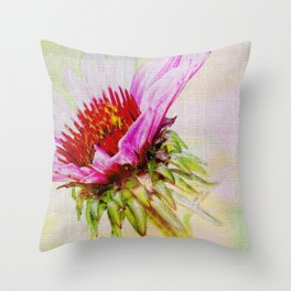 Dreamy Pink Coneflower Throw Pillow