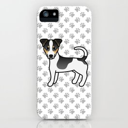Tricolor Smooth Coat Jack Russell Terrier Dog Cute Cartoon Illustration iPhone Case