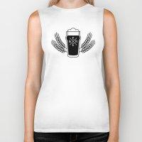 beer Biker Tanks featuring Beer. by Sparganum