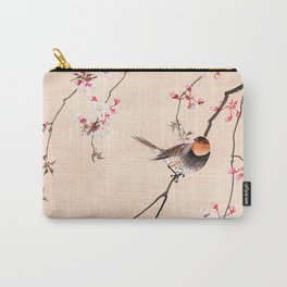 Peach Tree Robin Carry-All Pouch