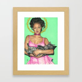 Lady Rihanna Framed Art Print