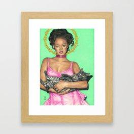 Lady Rihanna Gerahmter Kunstdruck