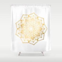 Golden Mandala Meditation Shower Curtain