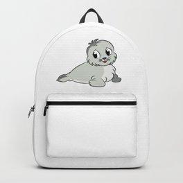 Cute Baby Seal Backpack