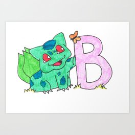 B is for Bulb A Saur Art Print
