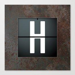 monogram schedule h Canvas Print