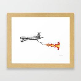 KC-135 Flames Framed Art Print