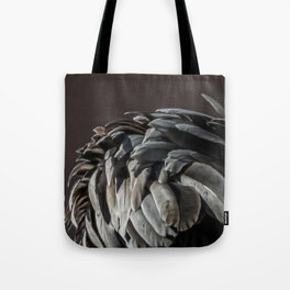 Closeup of Pelican Feathers Tote Bag