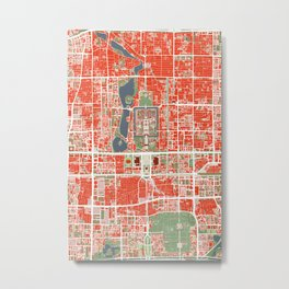 Beijing city map classic Metal Print