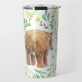 Watercolor Bear Travel Mug