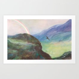 Belle's Journey: Over the Mountains Art Print