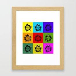 Supernatural Color Block Framed Art Print
