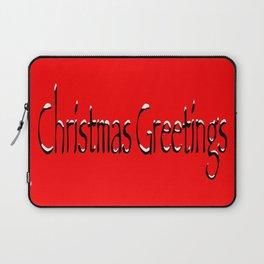 Christmas Greetings Laptop Sleeve