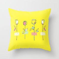 Rosewall (on yellow) Throw Pillow